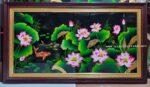 Tranh sơn mài cao cấp – Hoa sen – TM182