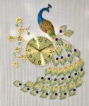 Đồng hồ nghệ thuật trang trí chim công – 1809