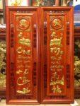 Tranh gỗ hương đỏ thư pháp Cha Mẹ – 37107
