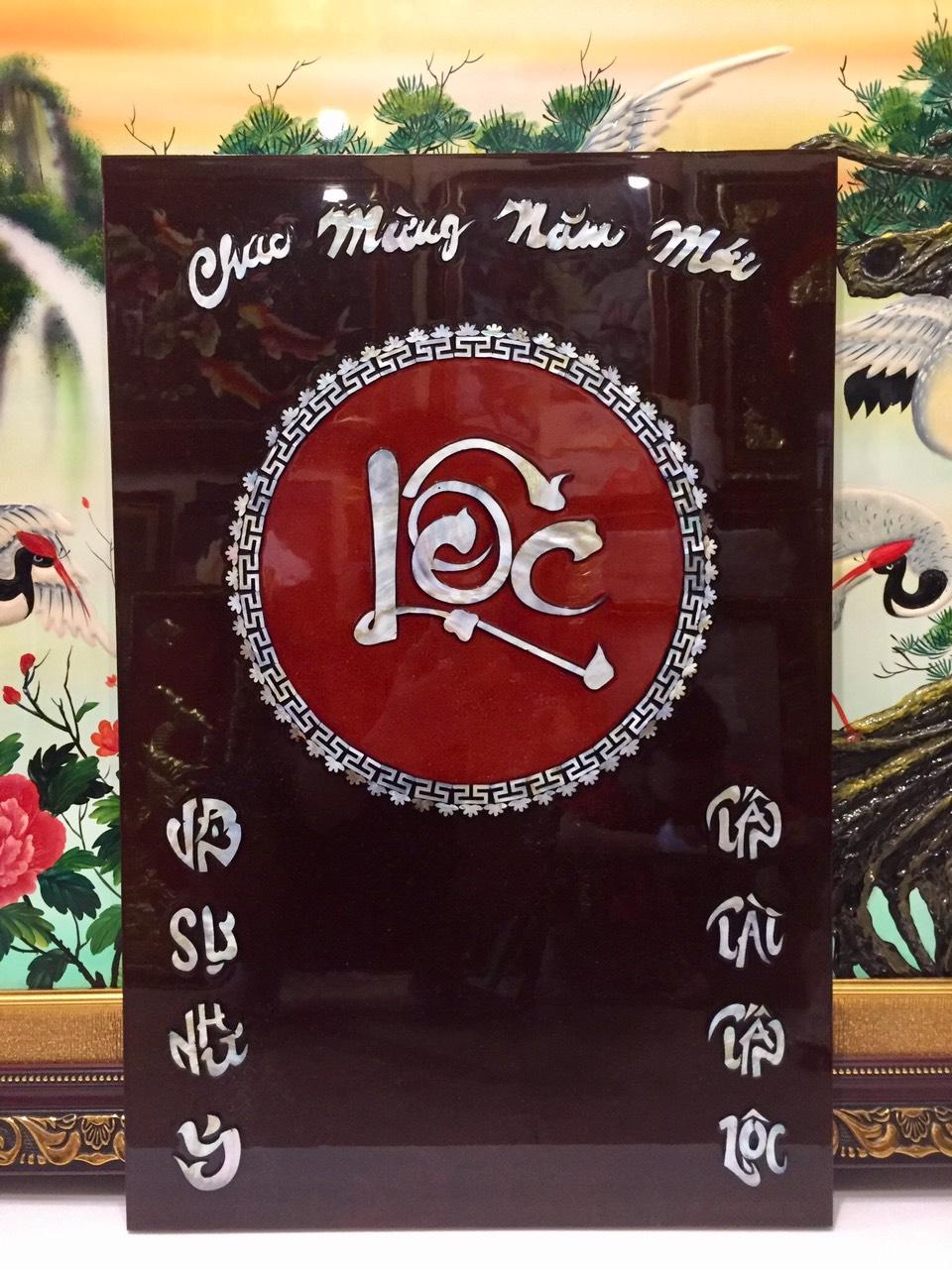 Đốc lịch sơn mài ,chữ Lộc -SM235