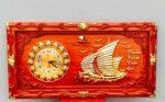THuận buồm xuôi gió – 4203 ( tranh gỗ hương đỏ )