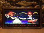 Tranh đồng hồ vạn niên, Thành phố Đà nẵng cầu rồng , có hiệu ứng đèn – 435