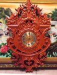 Đồng hồ gỗ hương đỏ liền khối cổ điển – 4576