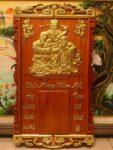 Tranh gỗ hương đốc lịch Phúc lộc thọ – 4703