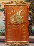 Tranh gỗ hương đốc lịch thuận buồm xuôi gió – 4704