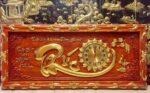 Đồng hồ chữ Phúc ( gỗ hương đỏ 4804 )