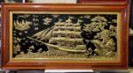 Tranh đồng khung gỗ dổi – Thuận Buồm Xuôi Gió -A202s