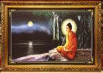 Bồ tát tất Đạt Đa ngồi nhập định dưới cây Đại Thọ bên sông Ni Liên – 005B