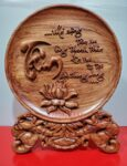Đĩa gỗ bày bàn – Chữ Tâm -QT18