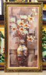 Bình hoa mộc lan  ( tranh in dầu – IN152 )