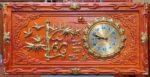 Tranh gỗ hương đồng hồ thư pháp chữ Lộc – 4204