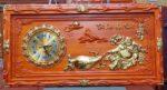 Đồng hồ gỗ hương Phật Di lặc – 4207